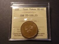 CANADA  1986  $1 TEST TOKEN CH TT 100.23 LOON DOLLAR TEST TOKEN