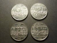 ERROR LOT   FOUR CANADIAN 1982 CONSTITUTION NICKEL DOLLARS WITH BETTER ERRORS