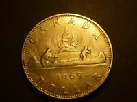LOWBALL   1969 CANADIAN NICKEL DOLLAR POCKET PIECE F CONDITION