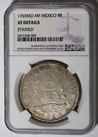 1769 MF MEXICO SPANISH COLONY 8 REALES KM 105 SILVER COIN NGC XF DETAILS