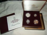 1997 4 COIN UNCIRCULATED PLATINUM EAGLE SET WITH US MINT BOX AND COA