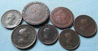 LOT OF 7 GREAT BRITAIN KING GEORGE III OLD COPPER COINS 1797