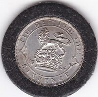 SHARP  1924  KING  GEORGE  V  SIXPENCE   6D   SILVER   50