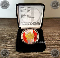 CANADA $ 5 DOLLARS 2010  MAPLE LEAF  GILDED HOLOGRAPHIC SILV