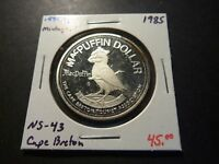 MINTAGE OF 50   NS43 1985 CAPE BRETON MCPUFFIN NS .999 SILVER