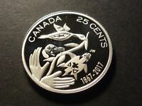 CANADA 25 CENT 2017 CANADA 150 SILVER PROOF STRIKE