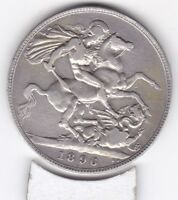 1896  QUEEN VICTORIA LARGE CROWN / FIVE SHILLING COIN  FROM