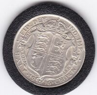 VERY SHARP  1916   KING  GEORGE V  HALF  CROWN   2/6D     SI