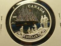 2016 SILVER DOLLAR COLOR 150TH ANN OF THE TRANSATLANTIC CABLE