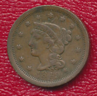 1849 BRAIDED HAIR LARGE CENT   NICE 19TH CENTURY TYPE COIN