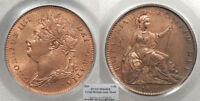 GREAT BRITAIN GEORGE IV 1826 FARTHING PCGS MS 64 RB