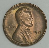 1955  P  LINCOLN CENT PENNY BU WITH SOME TONING