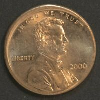 2000  P  LINCOLN CENT PENNY OFF CENTER STRIKE BU