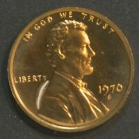 1970 S LINCOLN CENT PENNY PROOF LARGE DATE TONED     14140