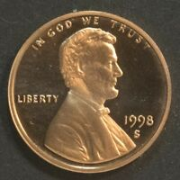 1998 S LINCOLN CENT PENNY PROOF