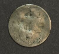 1852 SILVER THREE CENT PIECE KIND OF UGLY BUT GOOD AS FILLER COIN