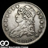 1810 CAPPED BUST HALF DOLLAR TOUGH CHOICE XF BETTER DATE SIL