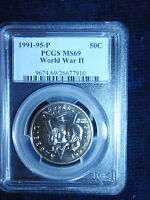 1991 1995 WORLD WARII COMMEMORATIVE HALF DOLLAR MS69 COMBINED SHIPPING AVAILABLE