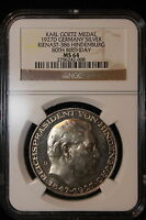 1927 D GERMANY / WEIMAR. 5 MARK. NGC GRADED MS 64
