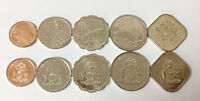 BAHAMAS SET 5 COINS 1 5 10 15 25 CENTS 2005 2015 UNC