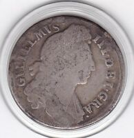 1696  KING  WILLIAM  III  STERLING  SILVER  SHILLING  BRITIS