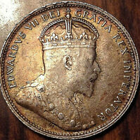 1907 CANADA 25 CENTS IN EXCELLENT CONDITION GOLDEN TONING