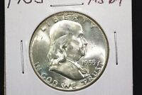 1955 FRANKLIN HALF CHOICE NEAR GEM  BU