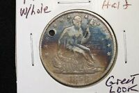1858 O SEATED HALF GREAT LOOK