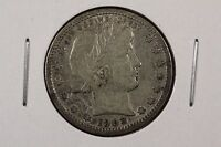 1908 D BARBER QUARTER DOLLAR 25C FINE