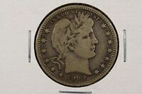 1909 D BARBER QUARTER DOLLAR 25C  FINE