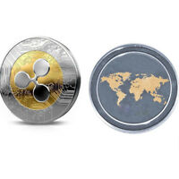 SILVER GOLDEN PORTABLE MINI NON CURRENCY COINS COMMEMORATIVE GIFTS RIPPLE
