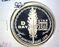 1969 D DAY STERLING SILVER PROOF MEDAL NCS .925 FINE  1 OZ ASW NORMANDY INVASION