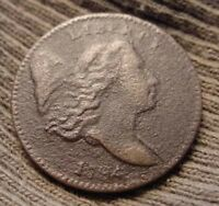 1794 HALF CENT LIBERTY CAP LOW MINTAGE 81,600 TWO HUNDRED FOR A DOLLAR ON SIDE