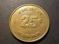 AFGHANISTAN CANADIAN FORCES 25C TOKEN TC 98406 LIGHTLY CIRCULATED