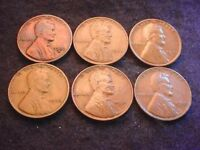 1930 TO 1933 LINCOLN CENT 6 COIN SET-- COINS  2