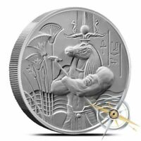 EGYPTIAN GODS SERIES SOBEK ULTRA HIGH RELIEF 2 OZ SILVER BU ROUND COIN