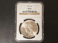1922 PEACE DOLLAR NGC MINT STATE 63
