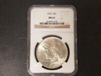 1923 PEACE DOLLAR NGC MINT STATE 63