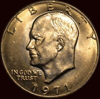 1971 P EISENHOWER DOLLAR QUITE NICE FOR A 71 P