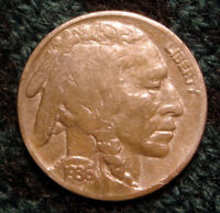 EXCELLENT 1936 BUFFALO INDIAN HEAD NICKEL 5C   CLEAR DATE   NICE DETAILS
