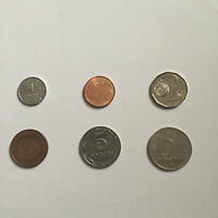 LOT OF 6 DIFFERENT COINS FROM 6 DIFFERENT COUNTRIES / CIRCULATED / NICE SET
