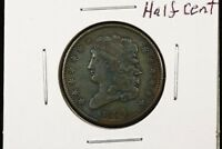 1834 1/2C BN CLASSIC HEAD HALF CENT XF  NICE TYPE COIN