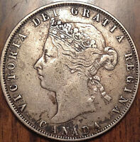 1872H CANADA SILVER 50 FIFTY CENTS IN