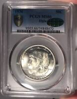 1936 50C PCGS MINT STATE 66 CAC ELGIN COMMEMORATIVE HALF DOLLAR