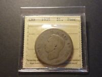 LOWBALL   1939 CANADA SILVER DOLLAR POCKET PIECE LUCKY COIN ICCS POOR P 01