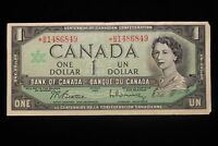 1967 CANADA.  $1  ONE DOLLAR. REPLACEMENT NOTE. SERIES  B/M.