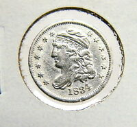 1834 H10C CAPPED BUST HALF DIME XF