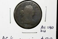 1808 NORMAL DTAE DRAPED BUST HALF CENT AG G W/CORROSION