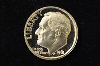 1961 10C CAMEO  PROOF  ROOSEVELT DIME