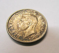 1944 CANADIAN  SILVER TWENTY FIVE CENT COIN   .800 SILVER